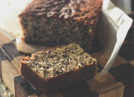 Roasted Cocoa Nib Loaf Cake Recipe